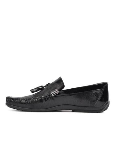 Ayakmod 2006 Siyah Rugan Hakiki Deri Erkek Casual Ayakkabı Siyah